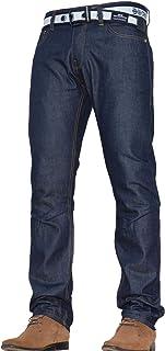 Crosshatch Mens Classic Straight Leg Regular Fit Stylish Denim Jeans All Waist & Sizes Free Belt