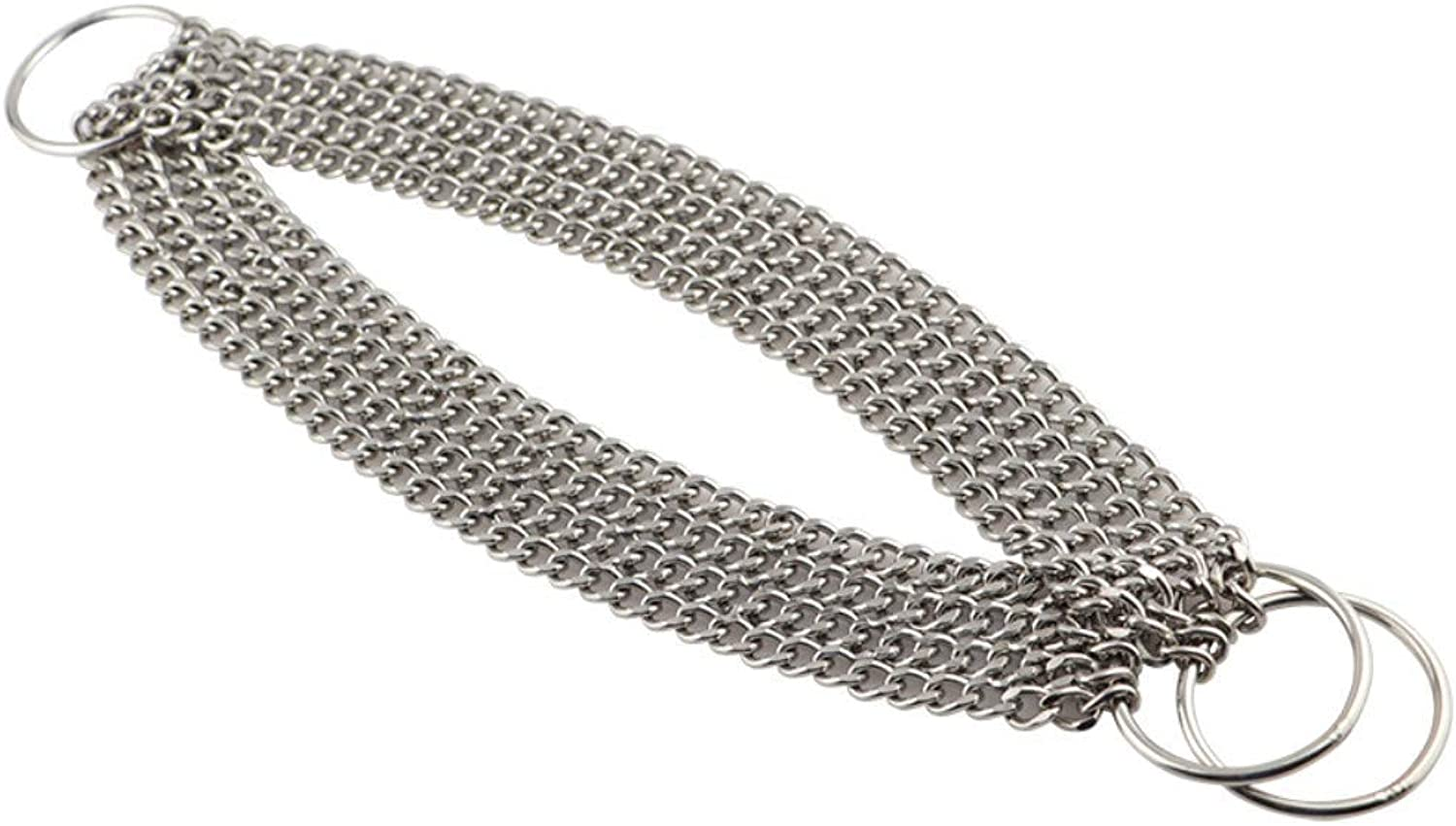 Around The HalfChoke Chain 4 Rows, 65 cm (50 to 60 cm), Dog Control Collar (color   , Size   )