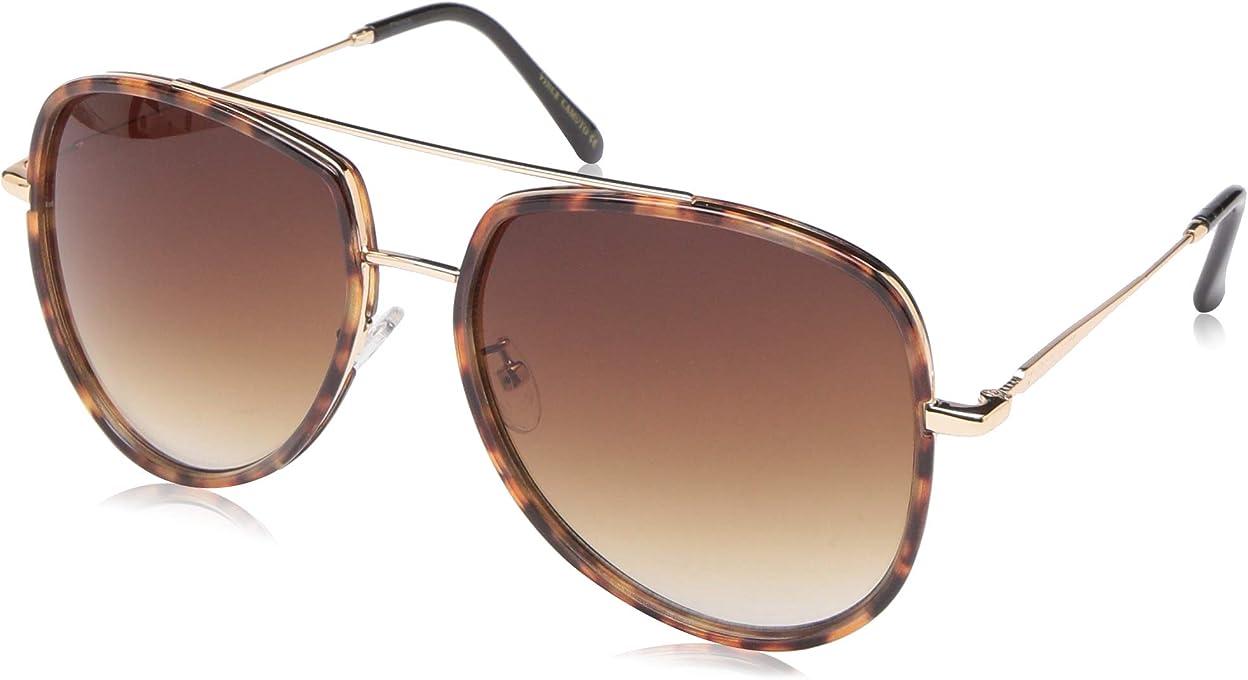 Vince Camuto Women's Vc838 Ts Non-Polarized Iridium Aviator Sunglasses, Gold, 60 mm