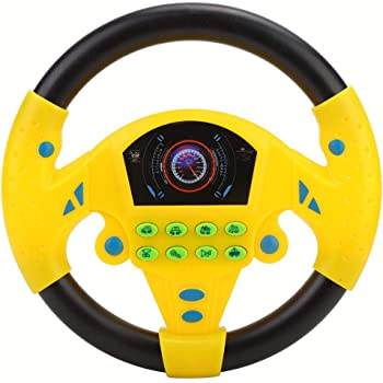 tournez et apprenez Volant avec Musique Interactif /Éducatif Lumineux Jouets pour Tout-Petits pour Enfants Enfants Zerodis Simulation Volant Jouet