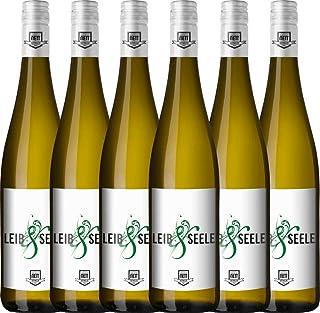 VINELLO 6er Weinpaket Weißwein - Leib & Seele Cuvée feinherb 2019 - Bergdolt-Reif & Nett mit Weinausgießer | feinherber Weißwein | deutscher Sommerwein aus der Pfalz | 6 x 0,75 Liter