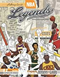 NBA Legends: Basketball Coloring & Activity Book for Adults and Kids: Players, Jerseys and Logos (35 Best Biography)