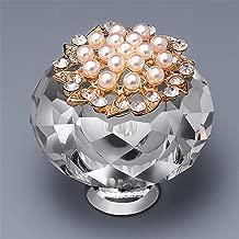 Leoie Luxurious Crystal Door Knobs,Zinc Alloy Pull Handle Cabinet Drawer Wardrobe Cupboard Knobs 40mm