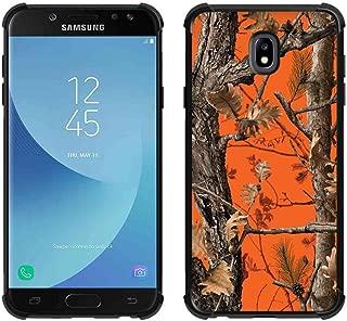 for Galaxy J7 2018 Case,Galaxy J7 Refine Case,Galaxy J7 V 2nd Gen Case,Galaxy J7 Top/J7 Star/J7 Aero/J7 Crown Orange Camo Case, ABLOOMBOX Slim Bumper Rubber Protective Case