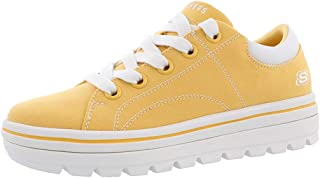 Skechers Womens 74100 Street Cleat. Canvas Contrast Stitch Lace Up Sneaker Size: