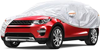 Car Cover, Waterproof SUV Car Covers All Weather UV Protection Windproof Snow-Proof Dust-Proof Scratch Resistant Universal Full Car Cover with Zipper Fit for SUV up to 189''(V1-fit SUV up to 189