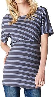 Siswong Blouse de Maternit/é Femmes Hauts dallaitement Maternit/é Classique de Maternit/é Femmes Enceinte Grossesse Double Couche Tops Rayures Haut Chemisier T-Shirt