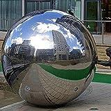LuukUP 1 Pieza Bola Hueca-Hueco de Acero Inoxidable sin Fisuras Bola de Espejo Esfera-esferas pulidas Brillantes Bolas de Globo Huecas Lisas-para Decorar el jardín en casa (H?200mm)