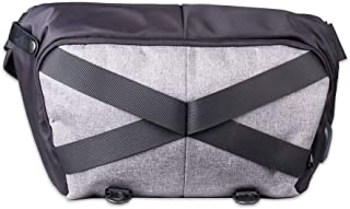 Scarters Cross-Body Laptop/MacBook Sling Bag with USB Hub & Cord ~ Black & Grey
