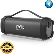 Pyle Wireless Portable Bluetooth Speaker - 100 Watt Power Rugged Compact Audio Sound Box Stereo System with Built-in Rechargeable Battery, 3.5mm AUX Input Jack, FM Radio, MP3 and USB Reader - PBMSQG5
