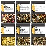 SoMo Tea, Premium Loose Leaf Tea Sampler Set | Sweet Dreams | 6 Flavor Hot or Iced Herbal and Fruit Tea, Low and No Caffeine, Variety Pack, Gift Box Set…