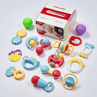 مجموعة ألعاب خشخيشات للأطفال 16 قطعة من إنرز ، ألعاب أطفال ، شاكر للرضع ، خشخيشات مسكة ودوران ، مجموعة ألعاب موسيقية ، ألع...
