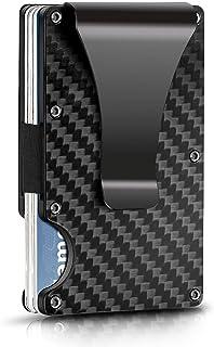 Minimalist Card HolderWallet Carbon Fiber Wallet RFID Blocking SlimMetal Wallet
