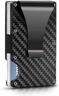 Carbon Fiber Wallet Money Clip - RFID Blocking - Slim Metal Wallet