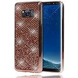 NALIA Purpurina Funda Compatible con Samsung Galaxy S8 Plus, Carcasa Protectora Movil Silicona Ultra-Fina Glitter Bumper, Lentejuela Cubierta Cobertura Delgado Cover Phone Case, Color:Rosa Gold Oro