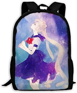 Custom Watercolor Sailor Moon Casual Backpack School Bag Travel Daypack Gift