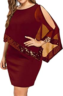 Women's Plus Size Dress Shawl Multiple Dressing Layered Bodycon Party Casual Dress
