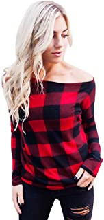 Women Cold Shoulder Long Sleeve Sweatshirt Pullover Tops Blouse Shirt