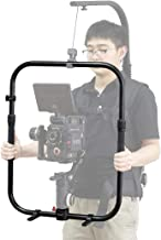 DF DIGITALFOTO Universal Handheld Ring Grip,Dual Handlebar Ring with Gear Adapter Compatible with ZHIYUN Crane 3S/2 DJI Ronin S MOZA Air 2 Feiyu AK2000 Series Etc