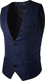 Sportides Mens Waistcoat Gilet Business Gentleman Vest Suits Blazer JZA005