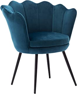 DM Furniture Teal Blue Accent Chair Modern Casual Living Room Chair Upholstered Fabric Leisure Chair for Living Room/Bedroom(Teal Blue)