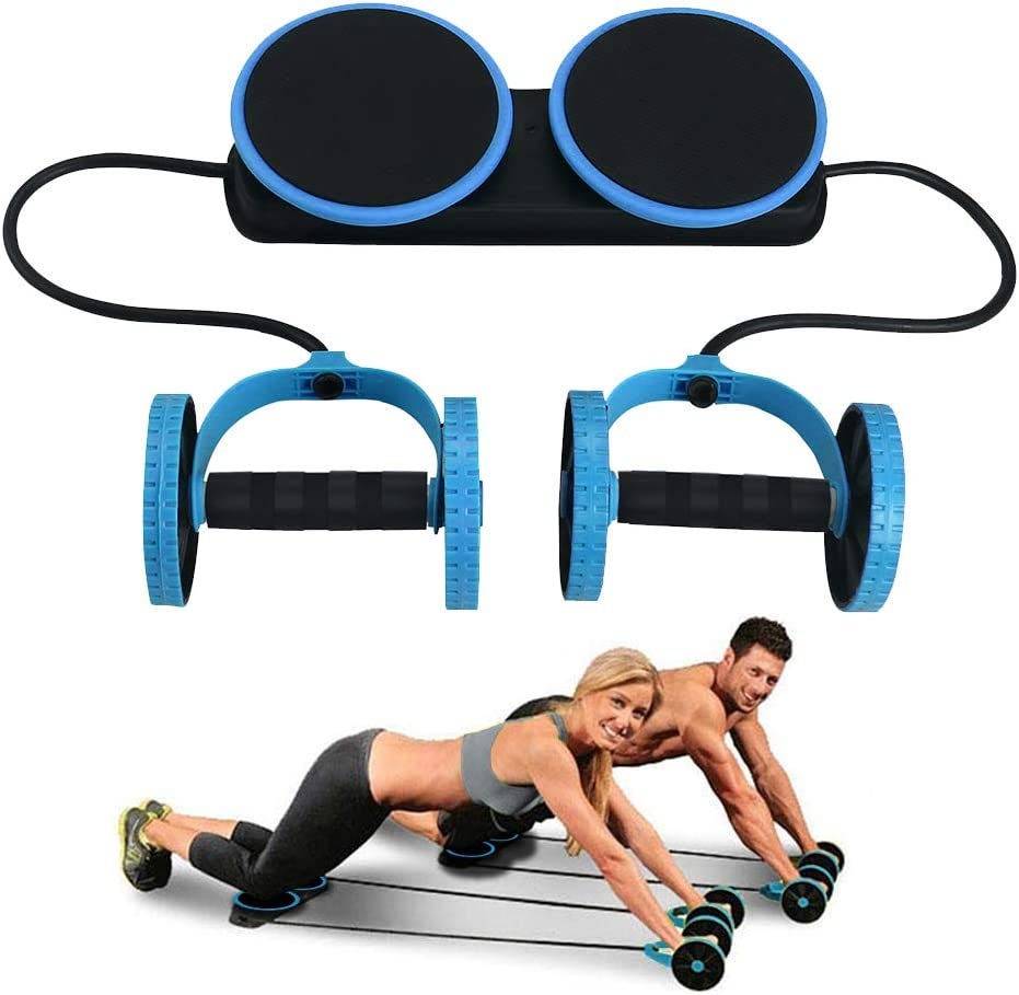 Ab Roller Wheel Abdominal Fitness Gym Exercise Equipment Core Workout Training !