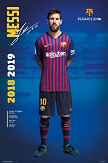 FC Barcelona - Soccer/Sports Poster/Print (Lionel Messi Posing - Season 2018/2019) (Size: 24 inches x 36 inches)