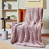 Bedsure Manta Sofa Polar Grande - Manta para Cama 90 Borreguito de Invierno, Manta Cubre Cama 150x200 de Sherpa Suave y Calentita, Rojo
