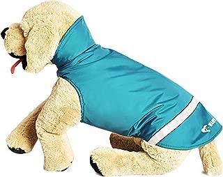 Wanpal Pet Raincoat Winter Cold Weather Dog Rain Poncho Coat,Warm Fleece Lining Waterproof Lightweight Outdoor Jacket Rip-Stop