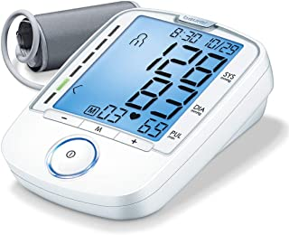 Beurer Upper Arm Blood Pressure Monitor, Blood Pressure Monitor Cuff, Multi-Users, Automatic, Illuminated Display, BM47