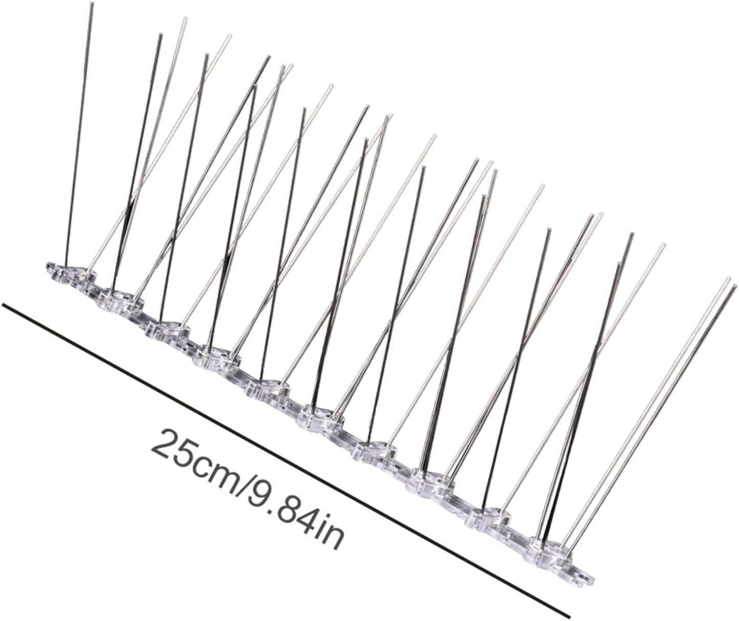 Balcones Repelente De P/ájaros De Acero Inoxidable Espantapajaros para Fruta Jard/ín Techos 25 Cm Easy-topbuy Pinchos Antipalomas