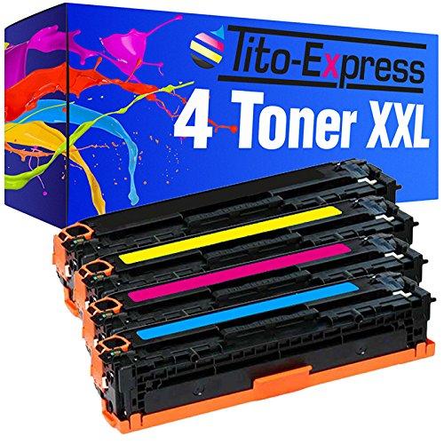 PlatinumSerie® Set 4 toners XXL compatibel voor HP 131A 131X CF210X CF211A CF212A CF213A Laserjet Pro 200 Color M251N M251NW M276N M276NW