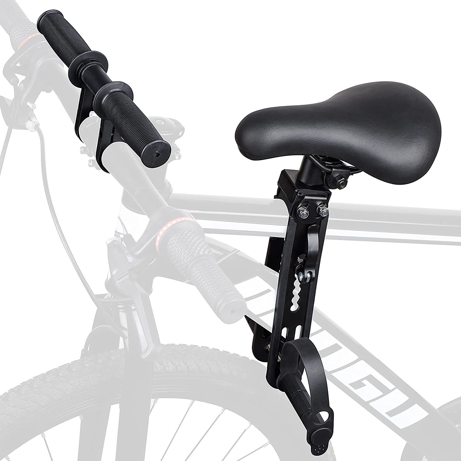 Kabandn Kids Bike Seat and Handlebar Pack, Front Mounted Child Bike Seat for Children 2-5 Year-Old(Up to 48 Pounds), Kids Toddler Bicycle Seat Bike Accessories for Adult Bikes, All MTB Mountain Bikes