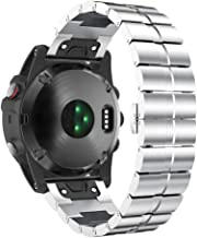 Notocity Compatible Fenix 5X Band 26mm Stainless Steel Metal Easy Fit Watch Strap for Fenix 5X/Fenix 5X Plus/Fenix 6X/Fenix 6X Pro/Fenix 3/Fenix 3 HR Smartwatch(Silver)