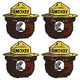 Smokey The Bear Firefighting Wildfire Sticker, Vinyl Decals - UV Protected & Waterproof - 4' x 4' Pack of 4