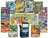 Ultra Rare Deluxe Pokemon Bundle – 50 Random Assorted Pokemon Cards Plus 2 Random Legendary Ultra Rare Pokemon Cards, Plus a Free lightning card collection Deck Box