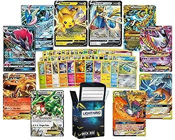 Ultra Rare Deluxe Pokemon Bundle – 50 Random Assorted Pokemon Cards Plus 2 Random Legendary Ultra Rare Pokemon Cards Plus a Free lightning card collection Deck Box