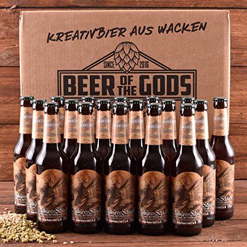 WACKEN BRAUEREI Strong Ale Craft Beer Box 20 x 0,33 l Flasche | WALKÜRENSCHLUCK | Viking Craftbeer Set Gift for Men | Wikinger Kraft Bier Geschenk für Männer | Party Festival Heavy Metal