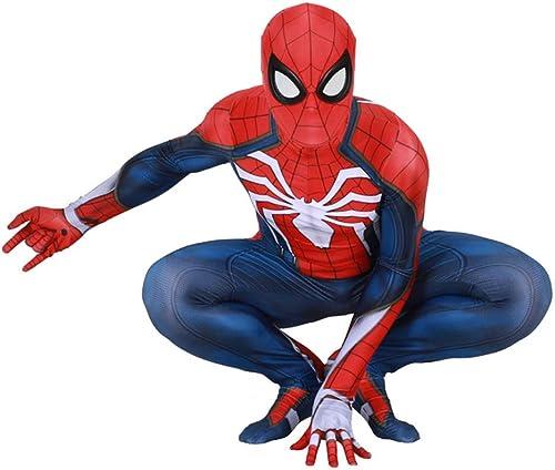 RNGNBKLS DéguiseHommest Spiderhomme Adulte Enfant HalFaibleeen Cosplay voiturenaval Costume Spiderhomme Spandex Costume en Lycra,(Hommes) style-1-XXXL