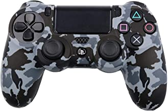 Protection Cover for Dualshock PS4 Controller, Silicone , Camouflage Grey