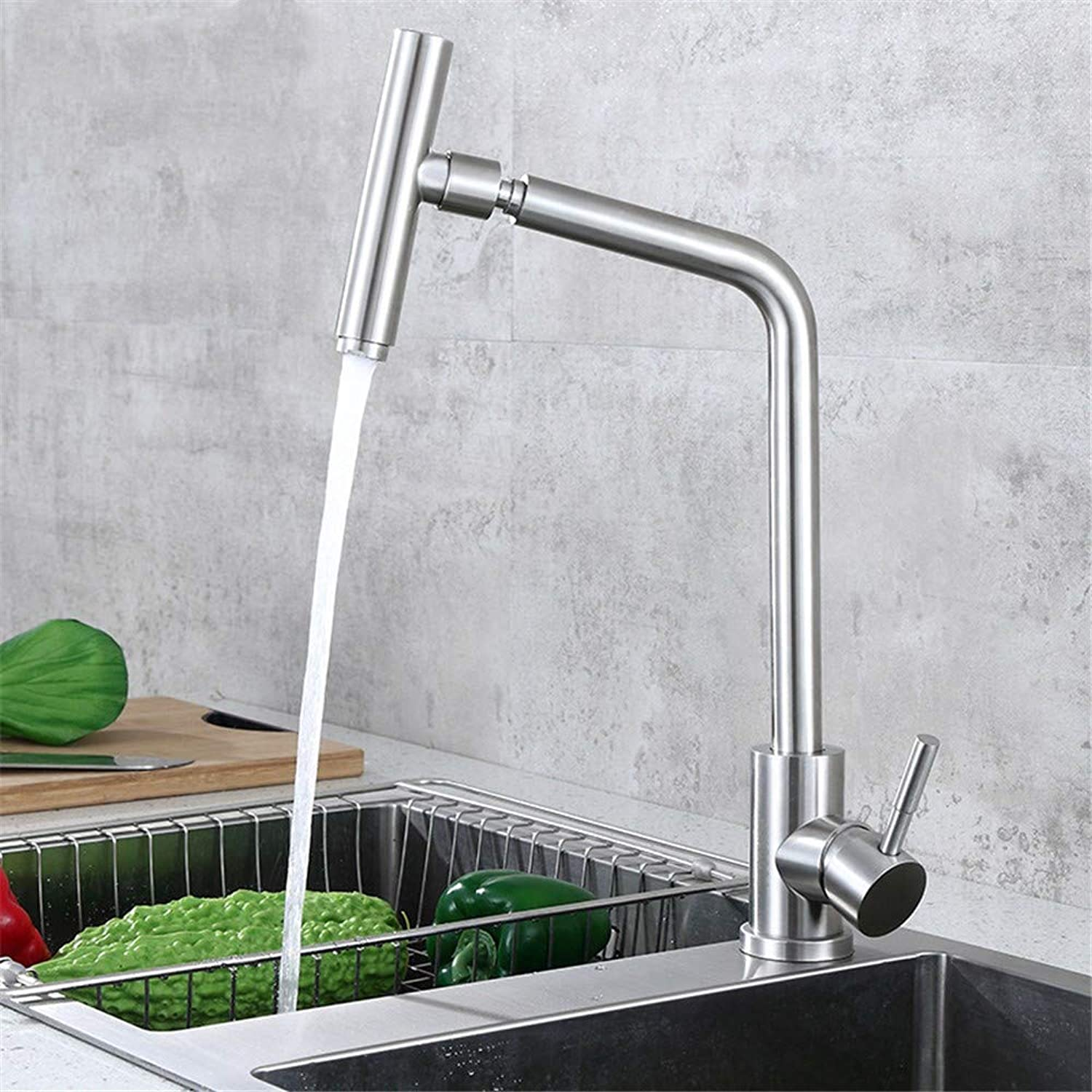 Decorry redating Microphone Section 304 Stainless Steel Kitchen Sink Washing Vegetables Basin Faucet Hot and Cold Kitchen FaucetS65-UE6589321557