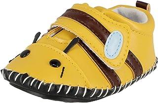 bde0ace317557 Krexus Chaussures Cuir Souple Bébé Fille Garçon Chaussons Premier Pas  Taille 0-18 Mois