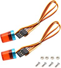 Boliduo RC Car Red Flashing Warning Light Emergency LED Strobe Police Lights for 1/8 1/10 RC Car Truck Lighting, 2 Pack