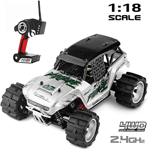 Mengen88 Remote Control Car, Electric Offroad 2.4Ghz Radio Controlled Electric 2WD Off Road Vehicle-Boy es Toy Monster Truck Rock Crawlers for Kids (4WD)