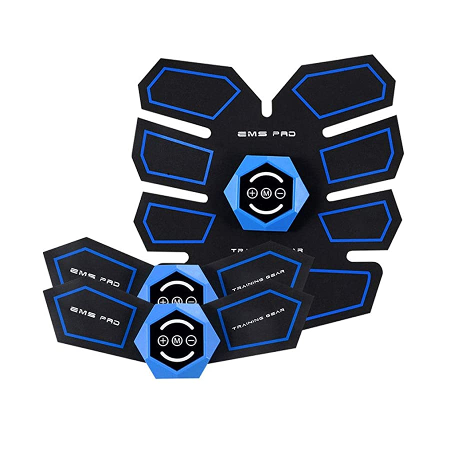 知恵司教致命的ABSトレーナーEMS腹部電気マッスルスティミュレーター筋肉トナー調色ベルトフィットネストレーニングギアABSエクササイズマシンウエストトレーナーホームワークアウトフィットネス (Size : A)