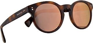 نظارة شمسية من فالنتينو VA 4009 هافانا مع عدسات بلون ذهبي وردي 47 ملم 50114Z VA4009S VA4009/S VA4009