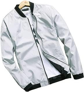 Men's Classic Soild Color Thin Light Weight Flight Bomber Jacket