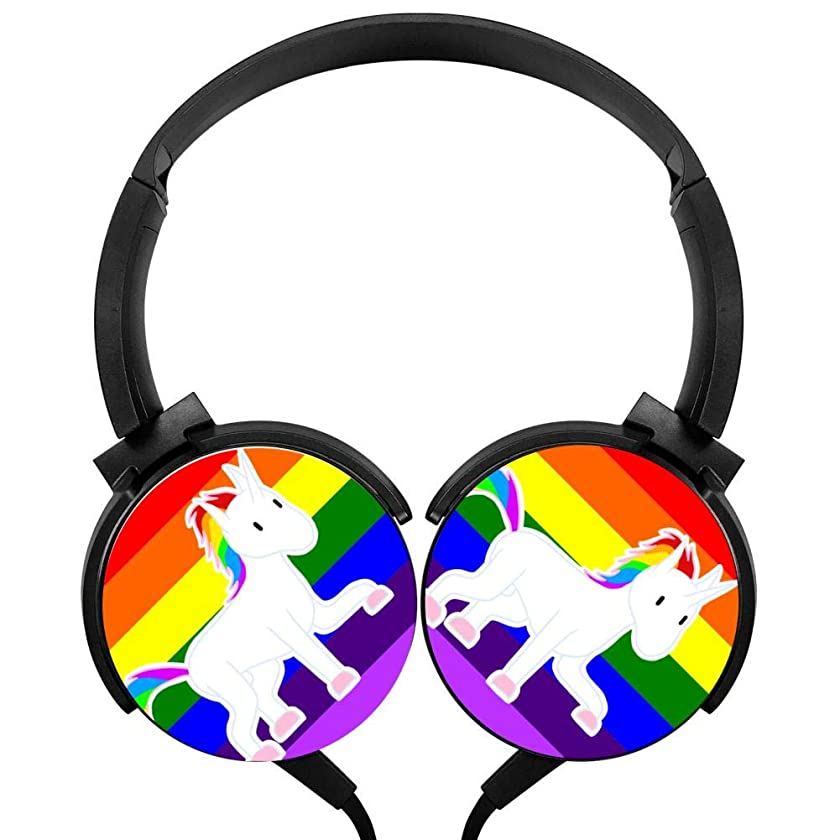 Rainbowcorn Headphones Lightweight With Mic Over Ear Running Stereo Headsets For Iphone, Ipad, Smartphone And Tv 3.5Mm