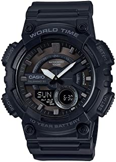 Casio Casual Watch Analog-Digital Display for Men AEQ-110W-1BV