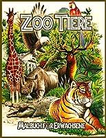 Zoo Tiere Malbuch: Malbuch zum Stressabbau